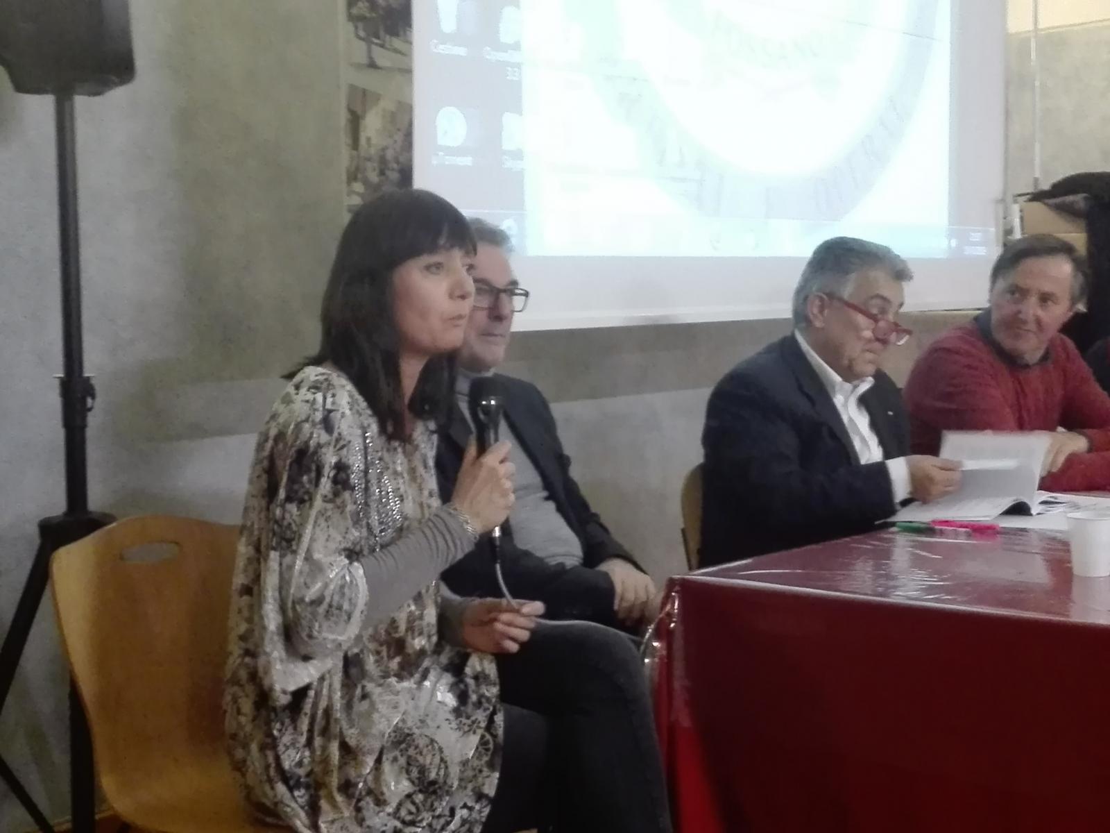 Foto presentazione libro del 18/02/19, Fossano, presso la Soms, società operaia di mutuo soccorso
